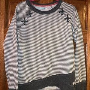 Maurices Gray & White Sweater